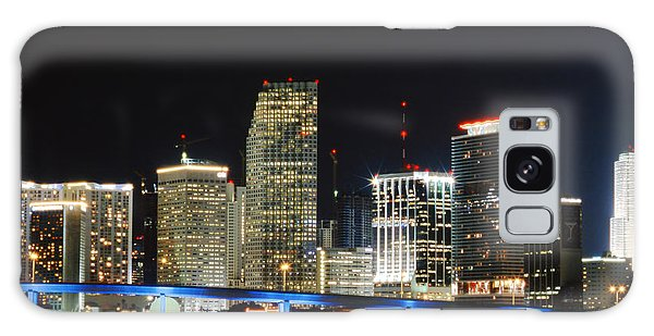 Bay Front Miami Skyline Galaxy Case