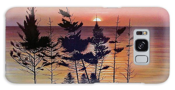 Bay Of Fundy Sunset Galaxy Case