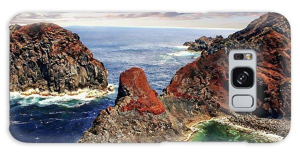 Bay Of Ponta Da Barca Galaxy Case