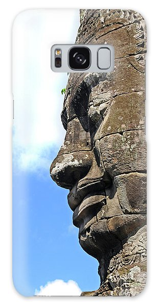 Bayon Face Galaxy Case by Marion Galt