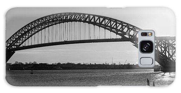 Bayonne Bridge Panorama Bw Galaxy Case