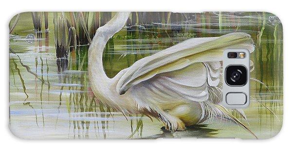 Bayou Caddy Great Egret Galaxy Case