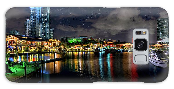 Bayside Miami Florida At Night Under The Stars Galaxy Case