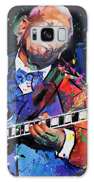 B B King Galaxy Case - Bb King Portrait by Richard Day