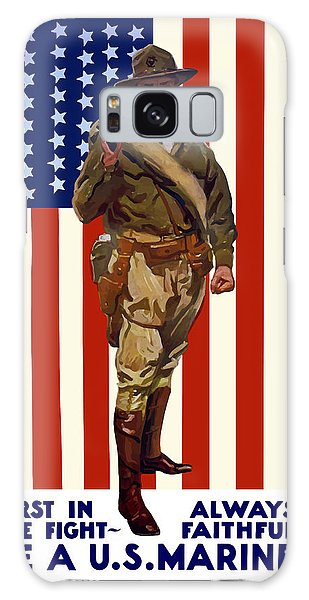 Americana Galaxy Case - Be A Us Marine by War Is Hell Store