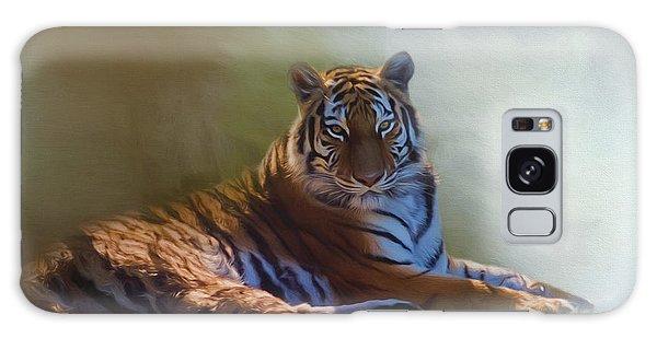 Be Calm In Your Heart - Tiger Art Galaxy Case by Jordan Blackstone