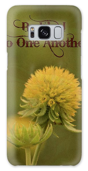 Be Kind To One Another Galaxy Case by Trish Tritz