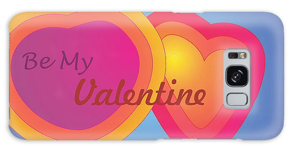 Be My Valentine Card Galaxy Case by Sherril Porter