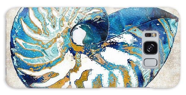 Bradenton Galaxy Case - Beach Art - Nautilus Shell Bleu - Sharon Cummings by Sharon Cummings