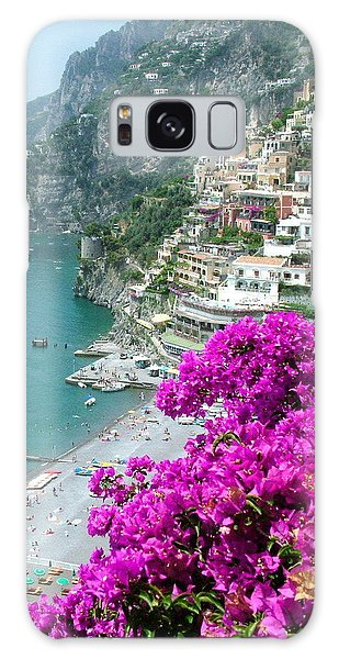 Beach At Positano Galaxy Case