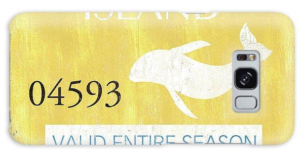 Galaxy Case - Beach Badge Long Beach Island 2 by Debbie DeWitt