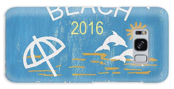 Galaxy Case - Beach Badge Virginia Beach by Debbie DeWitt