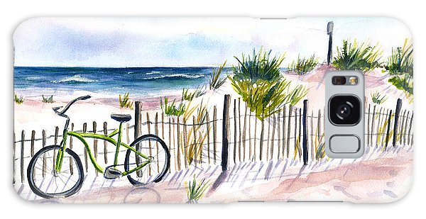 Beach Bike At Seaside Galaxy Case