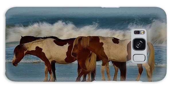 Beach Bum Ponies Galaxy Case by William Bartholomew