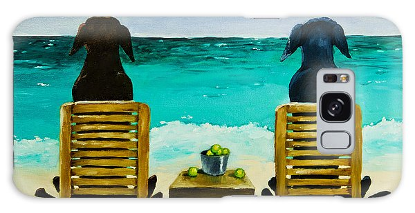 Chocolate Lab Galaxy Case - Beach Bums by Roger Wedegis