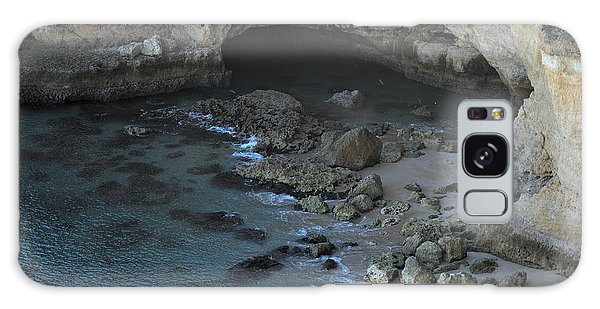 Beach Cave From The Cliffs In Malhada Do Baraco Galaxy Case by Angelo DeVal