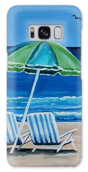 Beach Chair Bliss Galaxy Case