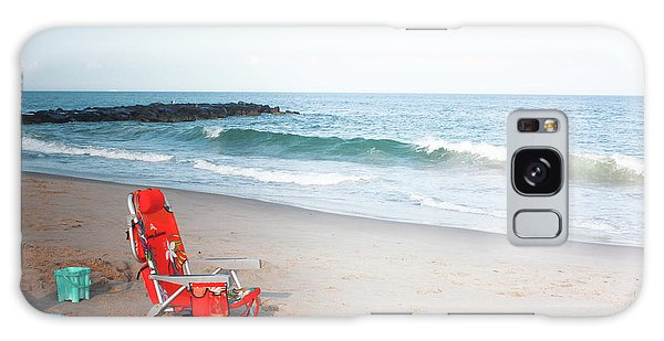 Beach Chair By The Sea Galaxy Case