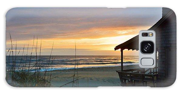 Beach Cottage Sunrise  Galaxy Case