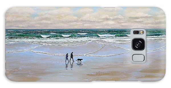 Beach Dog Walk Galaxy Case