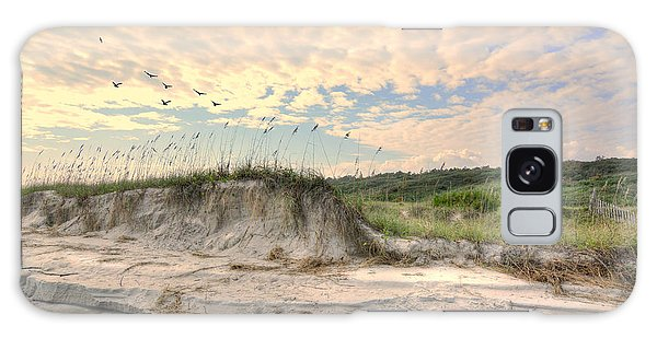 Beach Dunes And Gulls Galaxy Case by Kathy Baccari