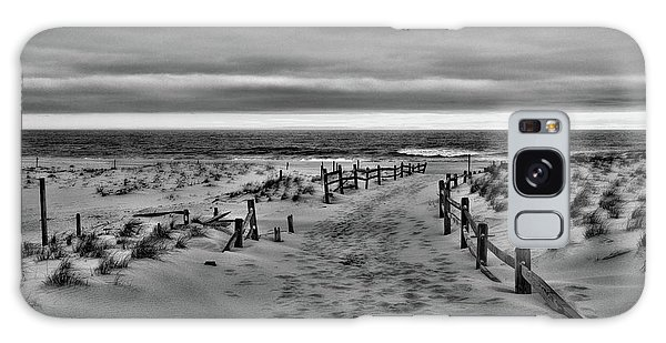 Beach Entry In Black And White Galaxy Case by Paul Ward