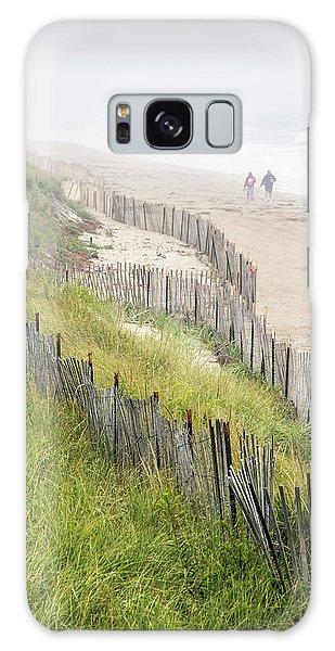 Beach Fences In A Storm Galaxy Case
