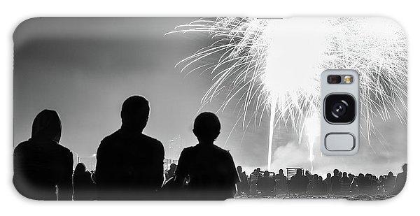 Beach Fireworks Galaxy Case by Paul Seymour