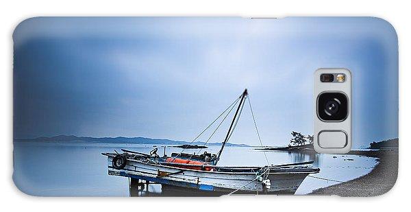 Beach Fishing Boat Galaxy Case