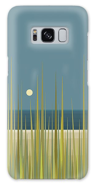 Beach Grass And Blue Sky Galaxy Case