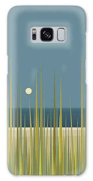 Beach Grass And Blue Sky Galaxy Case by Val Arie