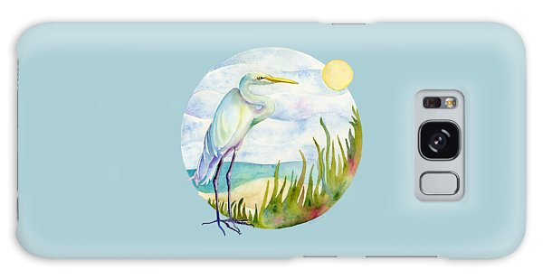 Beach Galaxy S8 Case - Beach Heron by Amy Kirkpatrick