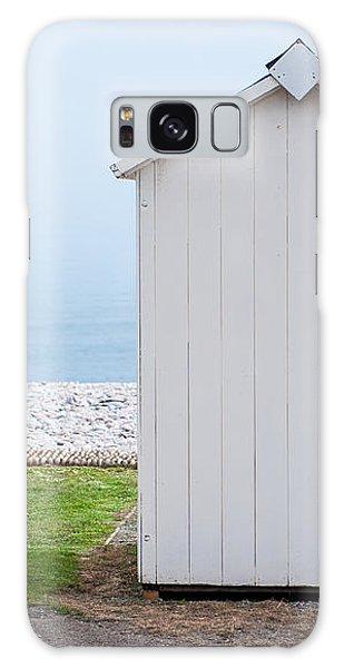 Beach Hut By The Sea Galaxy Case