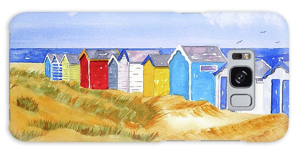 Galaxy Case featuring the painting Beach Huts by Rich Stedman
