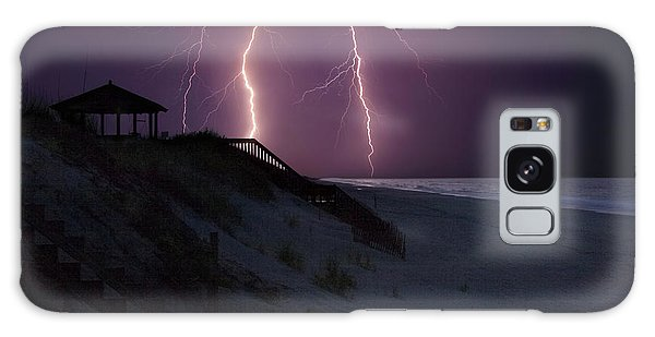 Beach Lighting Storm Galaxy Case