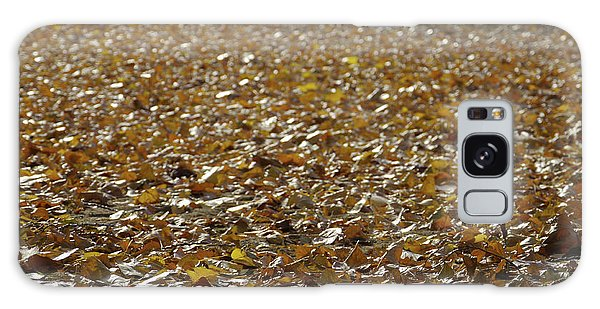 Beach Of Autumn Leaves Galaxy Case