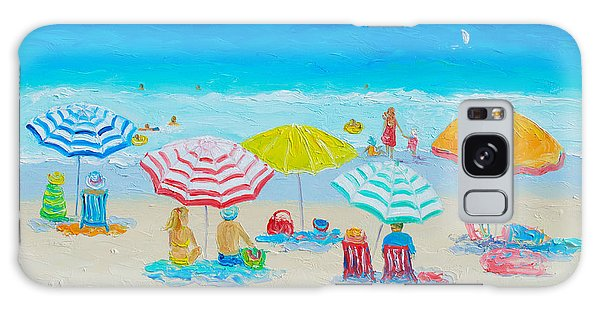 Beach Painting - Catching The Breeze Galaxy Case