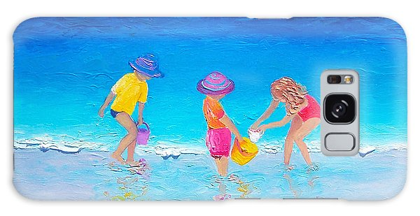 Beach Painting - Water Play  Galaxy Case
