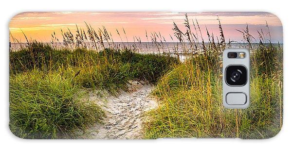 Beach Path Sunrise Galaxy Case