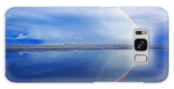 Beach Rainbow Reflection Galaxy Case