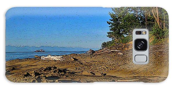 Beach Scene, Berry Point, Gabriola, Bc Galaxy Case by Anne Havard