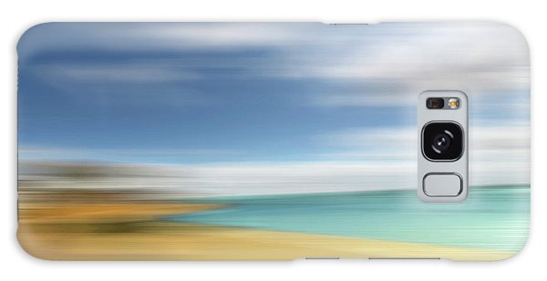 Beach Seascape Abstract Galaxy Case by Gill Billington