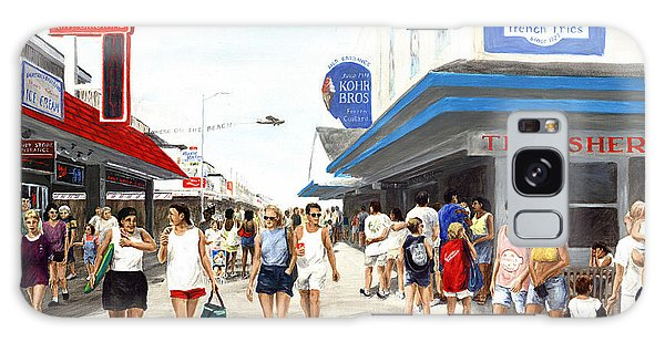 Beach/shore I Boardwalk Ocean City Md - Original Fine Art Painting Galaxy Case