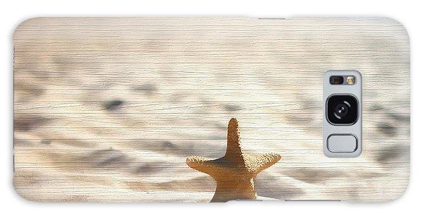 Beach Starfish Wood Texture Galaxy Case by Dan Sproul