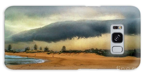 Galaxy Case featuring the photograph Beach Storm At Sunset By Kaye Menner by Kaye Menner