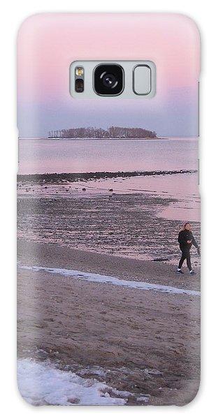 Beach Stroll Galaxy Case by John Scates