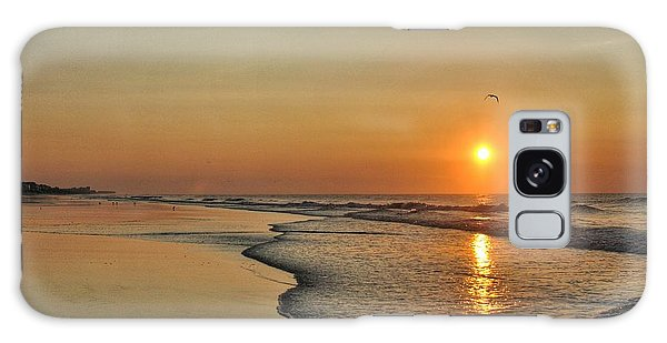 Topsail Nc Beach Sunrise Galaxy Case