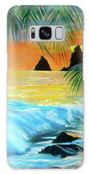 Beach Sunset Galaxy Case by Jenny Lee