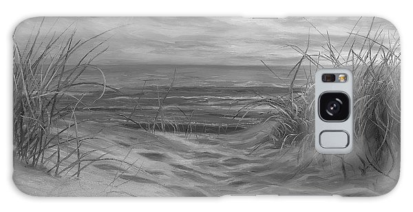 Scenery Galaxy Case - Beach Time Serenade - Black And White by Lucie Bilodeau