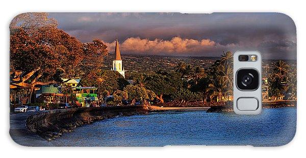 Beach Town Of Kailua-kona On The Big Island Of Hawaii Galaxy Case